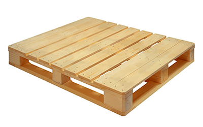 Used pallet With bottom strapping